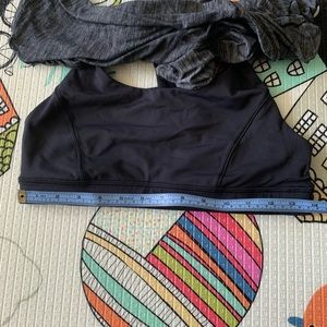 lululemon athletica Tops - Lululemon Heathered Dark Grey/ Black Tank